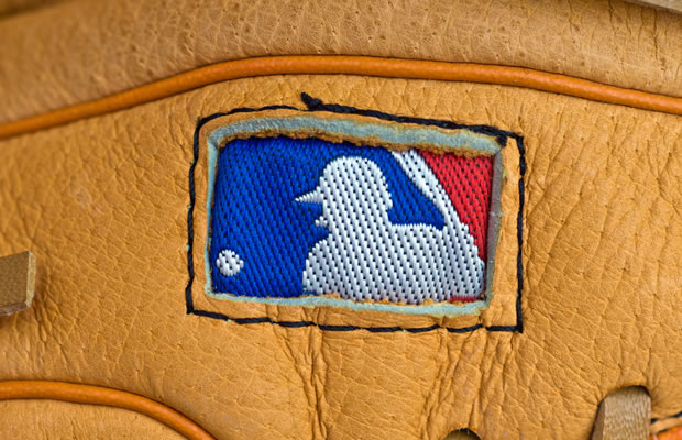 MLB Logo on glove