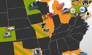 DFS Sports Sponsorship Map