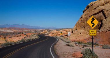 Twisting road in Nevada
