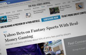 Yahoo Daily Fantasy Sports Story at WSJ