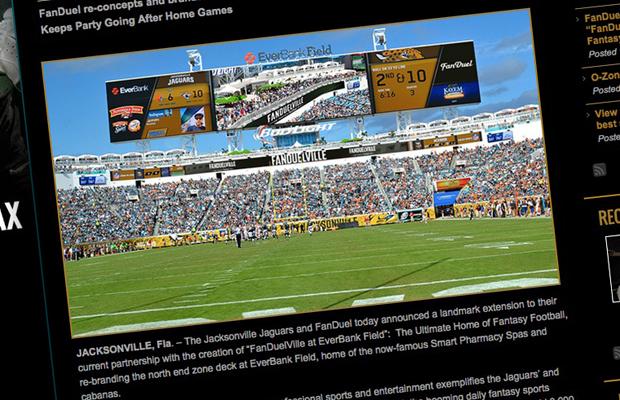 Welcome To U201cFanDuelVilleu201d: DFS Site Expands Presence At Jacksonville Jaguars  NFL Stadium