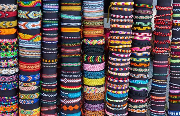 Colorful friendship bracelets