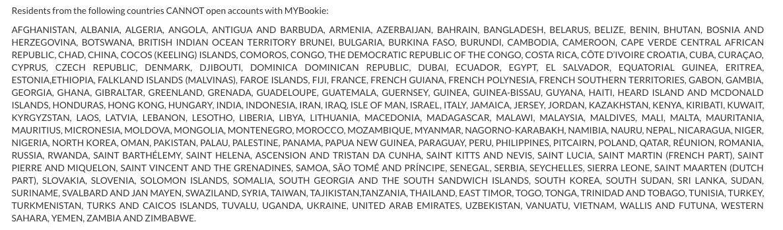 mybookie countries
