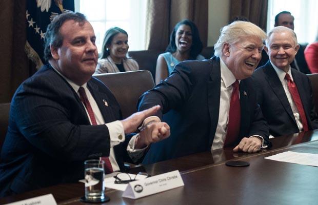 Christie Trump gambling