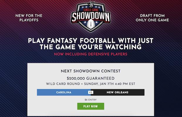 NFL Showdown DraftKings