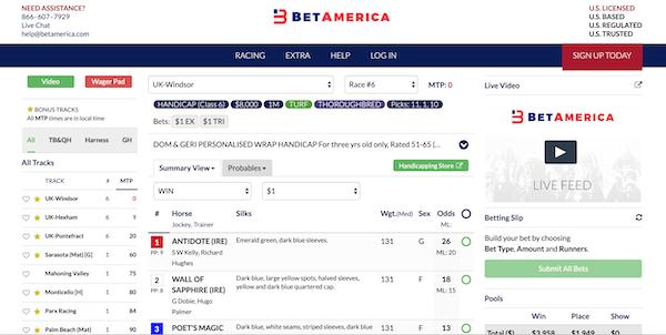 BetAmerica Racecards