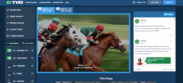 TVG Racebook Review - $200 Risk Free Bet + Promo Code FALL1